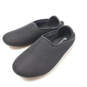 Mahabis All Black Slippers Size 37